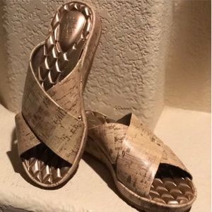 NEW Lifestride Open Toe Cork look Sandal NWOT